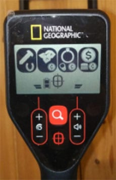 Control Panel National Geographic metal detectro