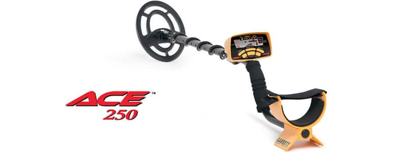 yellow garrett 250 beginners metal detector